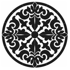 Baroque Medallion Porcelain Swimming Pool Mosaic x Stencil Patterns, Stencil Art, Stencil Designs, Pattern Art, Mandala Art, Mandala Design, Mosaic Art, Mosaic Glass, Baroque