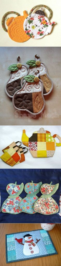 To the beloved kitchens - potholders, lunch -maty.