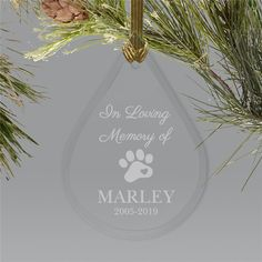 The loss of a pet is devastating, particularly when you have to spend the holidays without them being present with your family. Dog Christmas Ornaments, Memorial Ornaments, Personalized Christmas Ornaments, Christmas Dog, Dog Presents, Word Art Design, Pet Memorials, In Loving Memory, Over The Rainbow