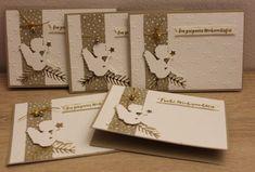 """Heute möchte ich euch diese Engel-Weihnachtskarte zeigen, auch diese habe ich schlicht in den Farben weiß-gold-savanne gehalten. Verwendet habe ich die Prägeform: """"Glückssterne"""", Die Thinlits: """"Tannen und Zapfen"""" und die Stempel aus dem Set: """"Tannenzauber"""" Der Engel ist von Alexandra Renke. Ich finde Engel gehören zu Weihnachten einfach dazu, und einen Engel kann doch jeder […]"""