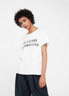 Message cotton t-shirt