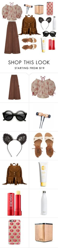 """""""Festival Season 2016"""" by experienceheadphones on Polyvore featuring Rosie Assoulin, LSTN, Cara, Billabong, Yves Saint Laurent, Fresh, S'well and Casetify"""