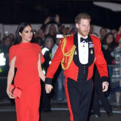 Another day, another standout dress. The post Meghan Markle is Radiant in Red Caped Gown at Mountbatten Festival of Music appeared first on FASHION Magazine. Royal Marines Uniform, Safiyaa, Cape Gown, Meghan Markle Style, Red Gowns, Beauty Magazine, Music, Woods, Outfits