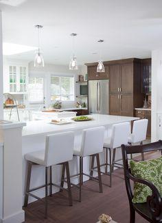 Love It or List It Vancouver: Karin & Bruce - Jillian Harris Kitchen Reno, New Kitchen, Kitchen Remodel, Kitchen Island, Kitchen White, Kitchen Counters, Kitchen Cabinetry, Jillian Harris, Small Round Kitchen Table