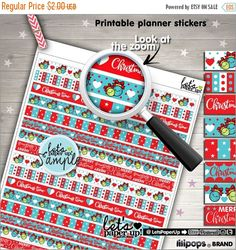 60%OFF - Christmas Stickers, Printable Planner Stickers, Washi Tape, Erin Condren, Kawaii Stickers, Cute Tape, Planner Accessories, Cute Sti