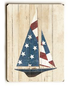 Love this American Flag Sailboat Wall Art on #zulily! #zulilyfinds