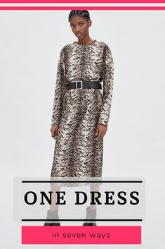 I am a big advocate for effective wardrobes. To make it so, you'll need to have versatile pieces that you can wear with many other items in your closet. It doesn't have to be boring, dull, solid greys and blacks.  See how one dress from Zara can create multiple combinations with your existing clothes.