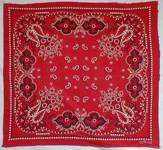 vintage red bandana