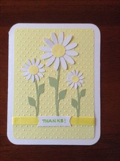 Cricut card, thank you card, graphically speaking cart flowers, doodle charms leaves, cuttlebug embossed