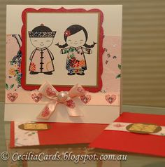 CL339 Chinese Dolls clear stamps by Hero Arts. Cecilia's Cards: for a Chinese wedding...