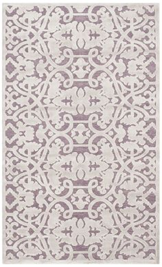 "Features: -Border: Yes. -Material: Viscose. Product Type: -Area Rug. Primary Color: -Mauve/Violet. Border: -Yes. Border Color: -Mauve. Dimensions: Pile Height: -0.25"". Rug Size 2'3"" x 4' - Ove"