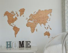 Amazon enjoy the wood wooden cork world map large push pin map amazon enjoy the wood wooden cork world map large push pin map of the world travel map rustic home decor office decor wall gumiabroncs Images