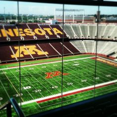 "TCF Bank Stadium is a outdoor stadium on the campus of the University of Minnesota in Minneapolis. Opened in 2009, it is the home field of the Minnesota Golden Gophers of the Big Ten Conference. The stadium will be the temporary home of the Minnesota Vikings of the National Football League for the 2014 and 2015 seasons while their new stadium is being built. The 50,805-seat ""horseshoe"" style stadium is designed to support future expansion to seat up to 80,000 and it cost $303.3 million to…"