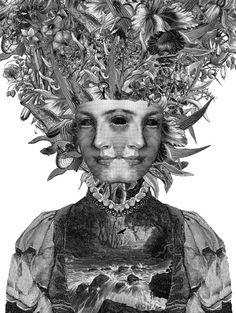 Lark by Dan Hillier #trippy http://www.danhillier.com/artwork/lark-digital