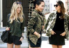 Look Militar inspiração de hoje no blog... www.minissaia.com.br