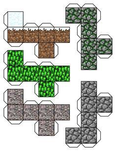 Deze Minecraft doosjes gaan we gebruiken als traktatie doosjes!