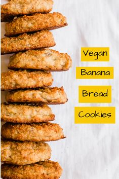 Banana bread cookies are a delicious and healthy treat the whole family will enjoy. They are gluten free and full of banana flavor - with just a hint of cinnamon. You'll love this easy banana cookie recipe! Banana Cookie Recipe, Banana Bread Cookies, Paleo Banana Bread, Banana Recipes, Gf Recipes, Whole Food Recipes, Vegetarian Recipes, Cooking Recipes, Healthy Recipes
