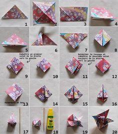 DIY Guirlande de fleurs de lotus en origami Lotus Origami, Origami Diy, Origami Jewelry, Paper Crafts Origami, Origami Tutorial, Paper Jewelry, Origami Ideas, Rainy Day Crafts, Paper Ornaments
