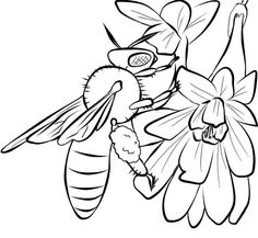 bee coloring pages 09