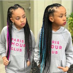 85 Box Braids Hairstyles for Black Women - Hairstyles Trends Box Braids Hairstyles, Lil Girl Hairstyles, Braided Hairstyles For Black Women, Braids For Black Hair, My Hairstyle, Black Hairstyles, Crochet Hairstyles For Kids, Mixed Kids Hairstyles, Hairstyles Pictures