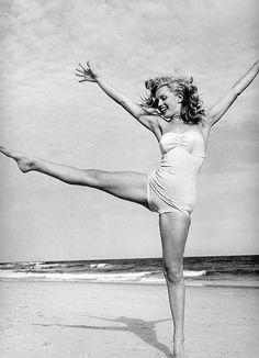 Marilyn Monroe on the beach