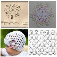 Amazing Picture of Baby Booties Crochet Pattern Crochet Turban, Crochet Baby Bonnet, Crochet Baby Hat Patterns, Crochet Diy, Crochet Beanie Pattern, Booties Crochet, Crochet Motif, Crochet Hats, Baby Booties