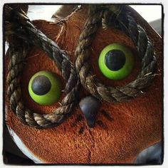 Owl adornments in Hootenanny corner.
