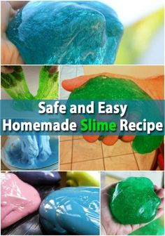 "Kids Will Love This Safe and Easy Homemade Slime Recipe!-- I'm thinking this will be an easy and inexpensive to candy for Jackson's Halloween class ""treat."" I want to add googley eyes in the bags to make monster slime!!"