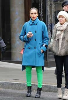 Because that coat is simply awesome. #JessicaAlba