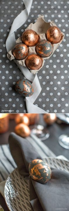 #Copperfoiled #EasterEggs #Easterdecorations www.LiaGriffith.com