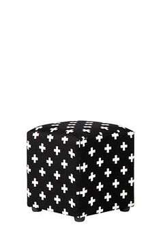 "Upholstered with a polyester geometric design, this cube is space efficient and great for extra informal seating or as a footrest at the end of a long day.<div class=""pdpDescContent""><ul><li> Polyester </li><li> No assembly required</li></ul></div><div class=""pdpDescContent""><BR /><b class=""pdpDesc"">Dimensions:</b><BR />L42xW42xH46 cm<BR /><BR /><b class=""pdpDesc"">Fabric Content:</b><BR />100% Polyester<BR /><BR /><div><span class=""pdpDescCollapsible expand"" title=""Expand Cleaning and…"