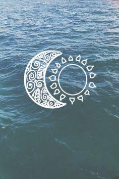 Image via We Heart It https://weheartit.com/entry/147537054/via/16781317 #background #beautiful #blue #classy #grunge #hipster #moon #ocean #sea #sun #wallpaper #water #idon'tcare