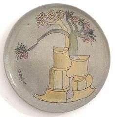 """Mostra """"VISIONI ONIRICHE"""" Piatto in #ceramica #GigiPedroli - #MIDeC - #Cerro"""
