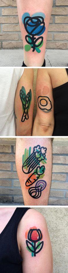 """Mattia Mambo """"Off-Register"""" tattoos"""