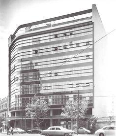 Edificio de Reaseguros Alianza, México, DF 1953    Arq. Enrique del Moral    Foto: Guillermo Zamora -    Reinsurance Alliance Building, Mexico, DF 1953    Architect: Enrique del Moral