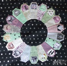 """Halloween Quilt Along: """"Ring of Coffins"""" by Flying Parrot Quilts.  Pattern by Jessee Maloney of Art School Dropout,"""