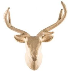 Paper Mache Deer Head with Wavy Antlers (Hobby Lobby)
