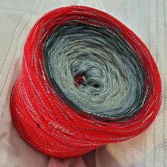 Nr. 235: Hochbausch + Beilauffaden Abysso (BW): 6 Farben rein: aluminium silbergrau stahlgrau graphit weinrot karminrot