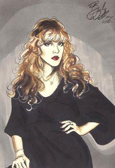 DeviantArt: More Artists Like Stevie Nicks of Fleetwood Mac by Markbickley Celebrity Drawings, Celebrity Portraits, Buckingham Nicks, Crazy Women, Stevie Nicks Fleetwood Mac, Donald Glover, Pretty Outfits, Pretty Clothes, Fairy Godmother