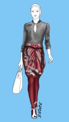 Zu einfarbigen #Strumpfhosen in Akzentfarben passen neutrale Farben oder gemusterte Kleidungsstücke, wenn die Farbe der Strumpfhose im Muster vorkommt. Weitere Schlank-Tipps für Strumpfhosen erhalten Sie bei http://blog.modefluesterin.de - Stil für starke Frauen.
