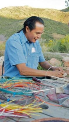 Navajo Basket Weaving Workshop with Anderson Black -- If you haven't registered for this 2-day workshop, do it now! -- March 2nd and 3rd