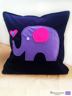 Cushion Cover, Elephants in Love. Home Decor