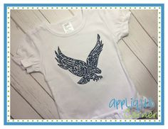 Eagle Swirl Filled Embroidery Design