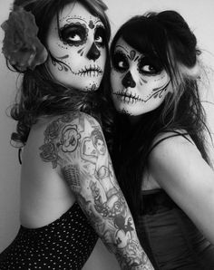 I wish I were going to be home for Halloween =[  Dia de los Muertos-style make up