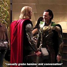 Tom & Chris    Loki & Thor