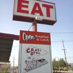 The finest of fine dining in Lancaster, CA. Famous for their breakfast and once located next to a railroad track where everything would start to shake when a train passed by. Good times, Great food.