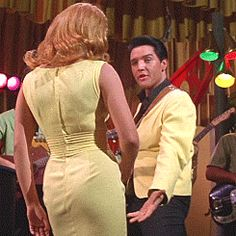 Viva Las Vegas (1964) Movie Star Elvis Presley and Ann-Margret. I think they were such a beautiful couple together-more so together than as individuals. I also love the hair and clothing styles from this movie. It was just breathtakingly beautiful.