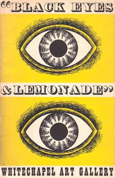 """The front cover of our copy of the catalogue for Barbara Jones' """"Black Eyes and Lemonade"""" exhibition of 1951 http://allthingsconsidered.co.uk/2013/02/barbara-jones-3.html"""