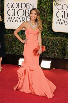 Jessica Alba at the Golden Globes 2013