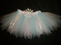 "Winter tutu ""Snow Princess"" snowflake tutu in light blue or light pink custom made from Newborn-4t. $26.00, via Etsy."
